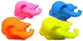 Marbles Squeeze Elephant Bath Toys - Set of 4