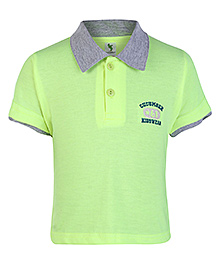 Cucumber Half Sleeves Polo T Shirt - Green