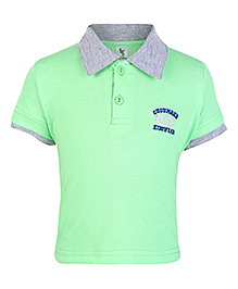 Cucumber Half Sleeves Polo T Shirt - Light Green