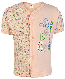 Cucumber Half Sleeves Vest Peach - ABC Print