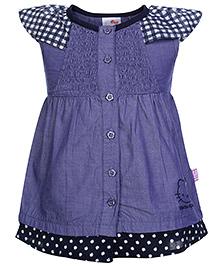 Hello Kitty Cap Sleeves Frock Style Top - Indigo Blue