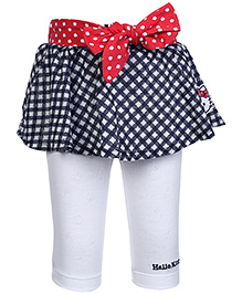Hello Kitty Skirt with Apple Print Belt and Legging