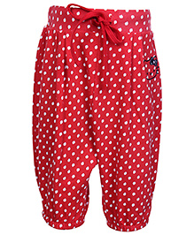 Hello Kitty Pleated Legging with Apple Print - Red