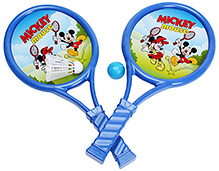 Disney Blue Mickey Mouse Print Play Racket- Set Of Two