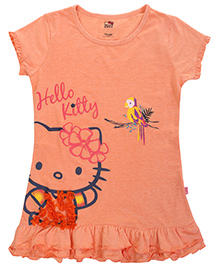 Hello Kitty Short Sleeves Top Light Orange