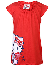 Hello Kitty Short Sleeves Top - Red