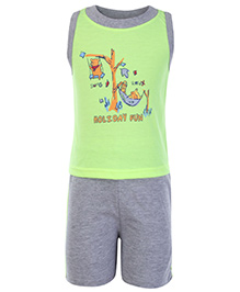 Cucumber Sleeveless T Shirt And Shorts Green - Holiday Fun Theme