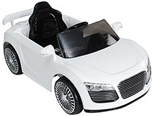 Fab N Funky Musical Baby Car- White