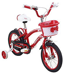 Fab N Funky Sport Baby Print Bicycle - Red