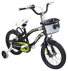 Fab N Funky Sport Baby Print Bicycle - Black