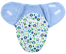 Carters Owl and Tree Print Baby Swaddle Wrap- Blue