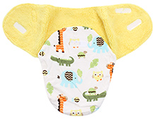 Carters Giraffe Print Baby Swaddle Wrap- Yellow