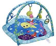 Mastela Multi Colour Baby Play Gym Green And Blue - 5 Fun Toys