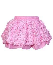 Tiny Girl Flower Fill Gathered Skirt Pink