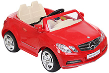 Fab N Funky Mercedes Benz Baby Car - Red & Cream