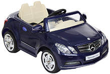 Fab N Funky Mercedes Benz Baby Car - Navy & Cream