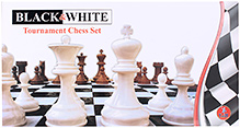 Yash Toys Chess Set Black And White Tournament Size