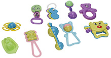 Kumar Toys Lovely Collection Rattles- 10 Pieces