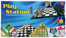Yash Toys Play Station i 5 In 1 Board Games