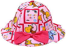 1st Step Animal Print Bucket Hat - Pink