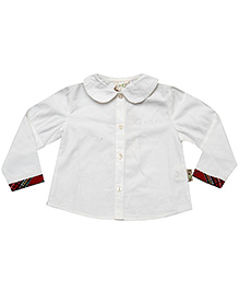 Gron Full Sleeves Shirt Off White - Apple Collar