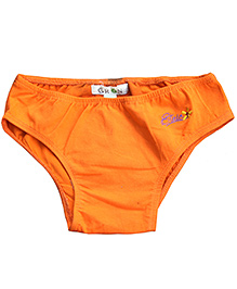 Gron Orange Panty Flower Embroidery