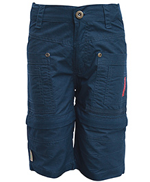 Gron Navy Blue Trouser With Multi Pockets
