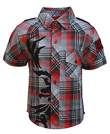 Gron Half Sleeves Check Print Shirt - Front Pocket