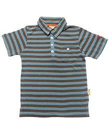 Gron Half Sleeves T-Shirt Stripe Print - Front Pocket