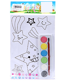 Fab N Funky Coloring Book Set with Multicolors Star Print