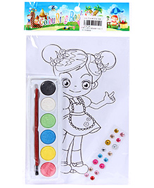 Fab N Funky Coloring Book Set with Multicolors Girl Print
