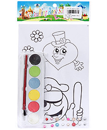 Fab N Funky Coloring Book Set with Multicolors - Smiley Face Print