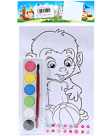 Fab N Funky Coloring Book Set with Multicolors - Baby Gorrilla Print