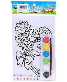 Fab N Funky Coloring Book Set with Multicolors - Flowers Print