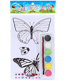 Fab N Funky Coloring Book Set with Multicolors - Butterflies Print