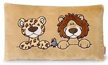Nici Leopard and Lion Print Rectangular Cushion