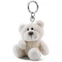 Nici Bear Beige Plush Key Chain- Off White