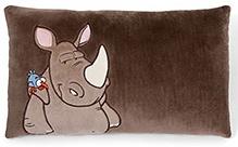 Nici Rhino Print Rectangular Cushion