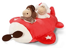 Nici Aircraft Shape Playing Cushion With Jolly Dean And Sue Figure