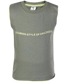Cucumber Sleeveless T Shirt Grey - Style Of Childhood Print