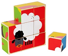 Hape Farm Animals Block Wooden Puzzle