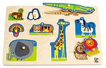 Hape Wild Animals Peg Wooden Puzzle