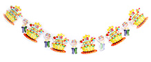 Fab N Funky Candle and Star Print Birthday Banner - 6 pieces