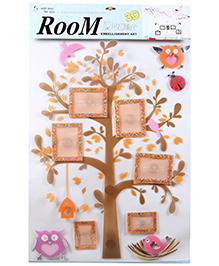 Fab N Funky Decor 3D Photo Frame with Tree Sticker - Orange