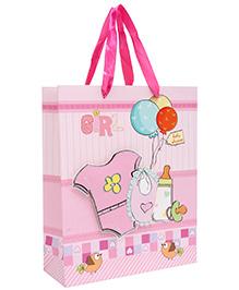 Fab N Funky Baby Shirt Printed Gift Bag- Pink