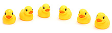 Fab N Funky Duck Design Baby Bath Toys- Set of 6
