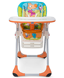 Chicco Polly 2 In 1 Highchair Wood Friends - Multicolour