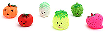 Fab N Funky Fruit Shape Baby Bath Toys- Set of 6