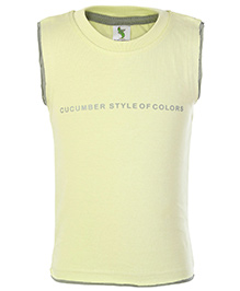 Cucumber Sleeveless Printed T-Shirt - Lime