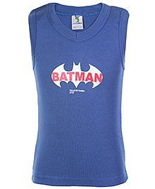 Cucumber Sleeveless Vest Dark Blue  - Batman Print